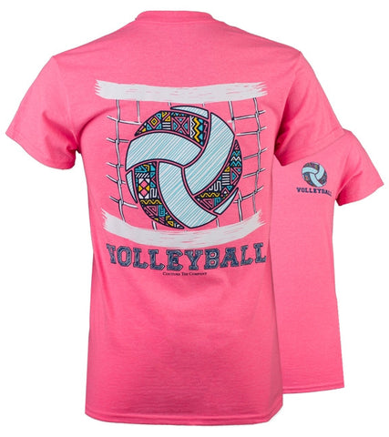 Southern Couture Preppy Pattern Volleyball T-Shirt