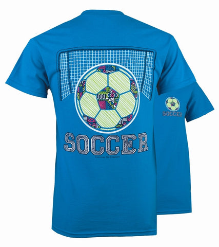 Southern Couture Preppy Pattern Soccer T-Shirt