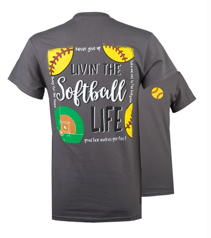 Southern Couture Preppy Softball Life T-Shirt
