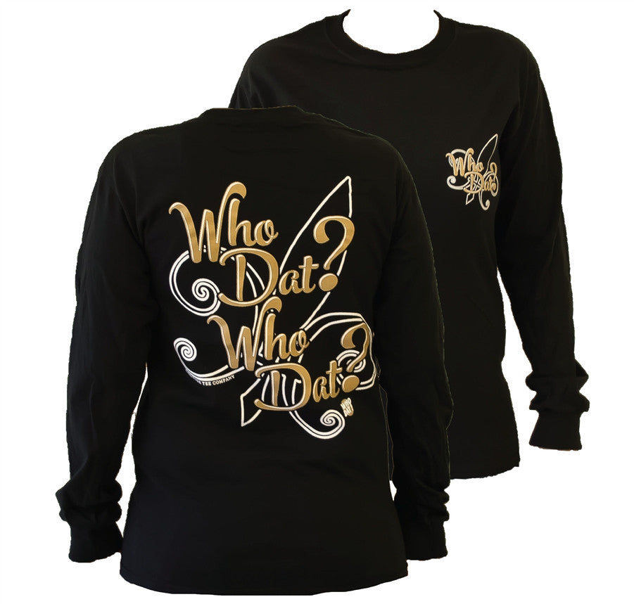 c768247a8 Southern Couture New Orleans Saints Who Dat Who Dat Fleur De Lis Girli |  SimplyCuteTees
