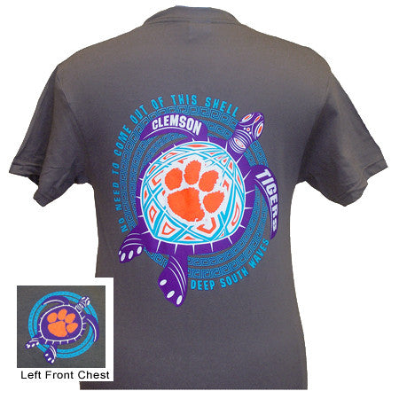 New South Carolina Clemson Tigers Turtle Surf Wave Girlie Bright T Shirt