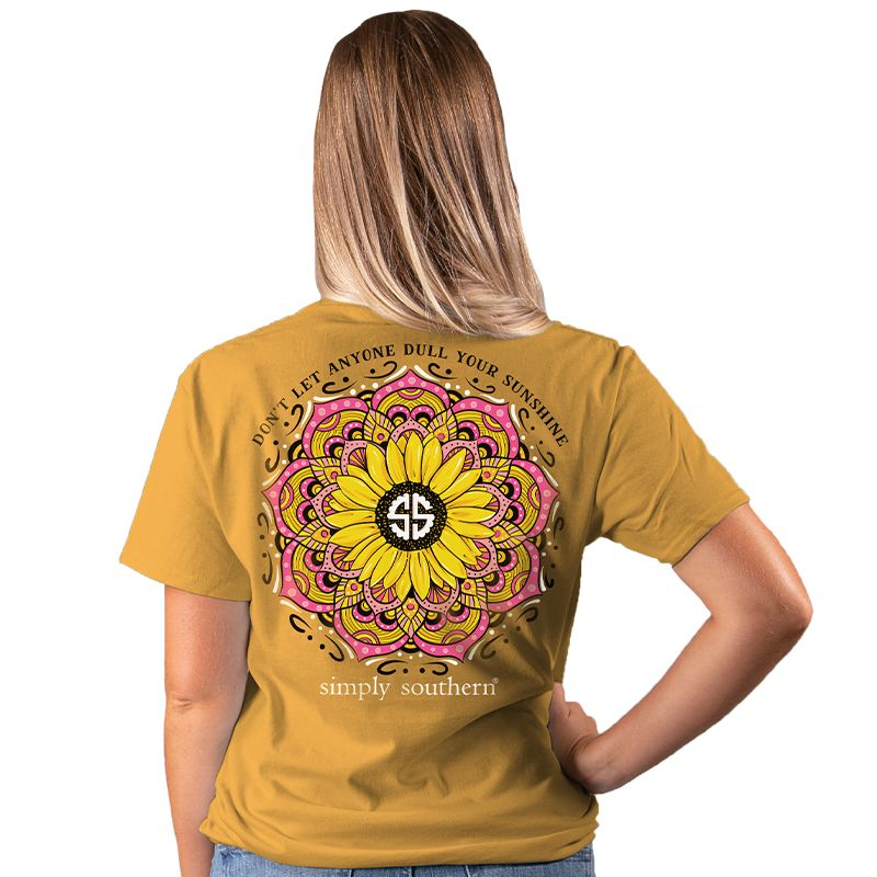 Simply Southern Preppy Dull Your Sunshine Sunflower T-Shirt