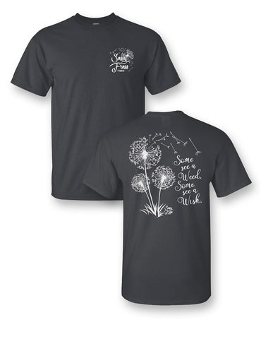 Sassy Frass Dandelion Some See a Weed Some See a Wish Girlie Bright T Shirt