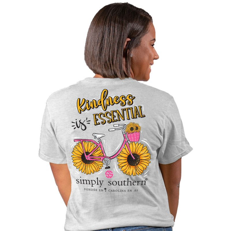 Simply Southern Kindness Is Essential Sunflower T-Shirt