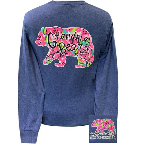Girlie Girl Originals Preppy Grandma Bear Long Sleeve T-Shirt