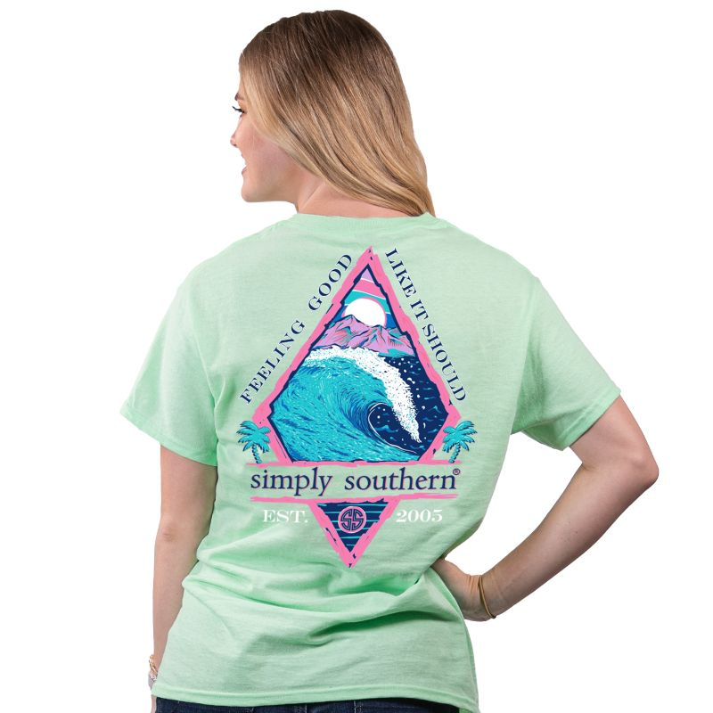 Simply Southern Preppy Feeling Good Waves T-Shirt