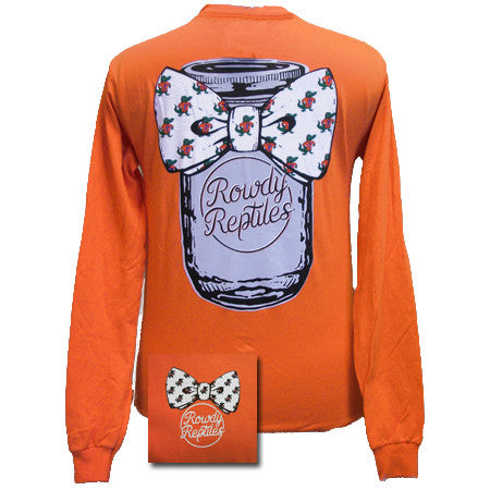 New Florida Gators Mason Jar Bow Girlie Bright Long Sleeves T Shirt