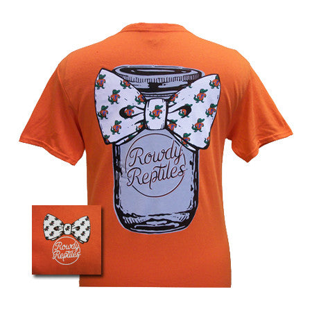 New Florida Gators Mason Jar Bow Girlie Bright T Shirt