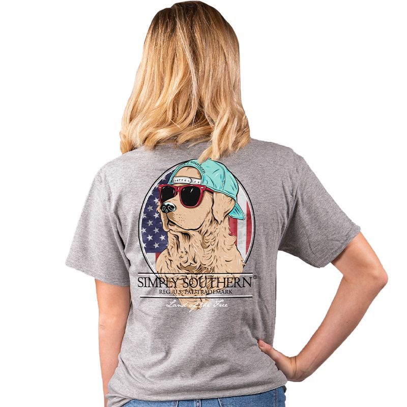 Simply Southern Preppy USA Freedom Dog T-Shirt