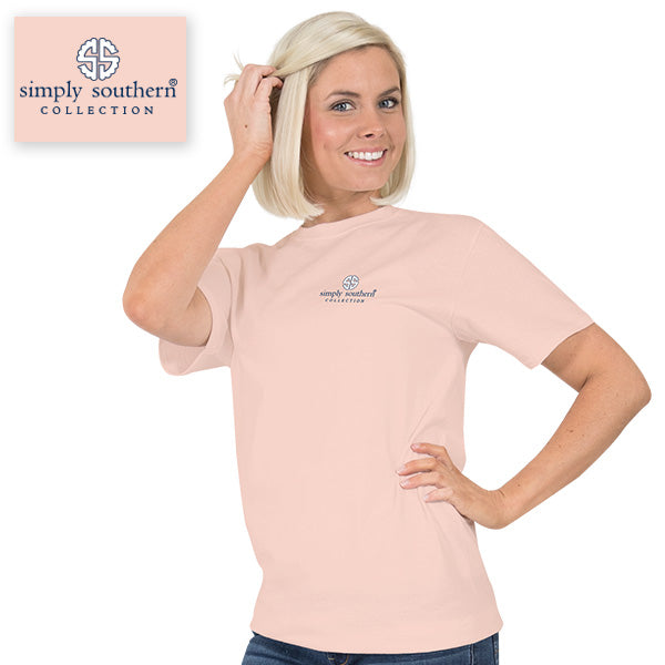 a659cd264ce07 ... Simply Southern Preppy Be Still & Know That I Am With You Flowers T- Shirt