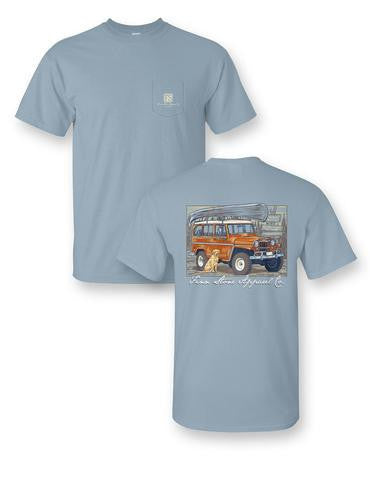 Finn Stone Apparel Jeep Canoe Dog Comfort Colors Unisex Frass Bright T Shirt
