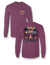 Sassy Frass Fall Nights in the South Bonfire Camper Comfort Colors Girlie Long Sleeves T Shirt