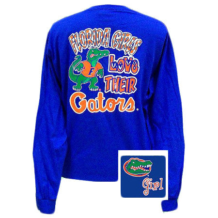 Florida Girls Love Their Gators Girlie Bright Long Sleeves T Shirt