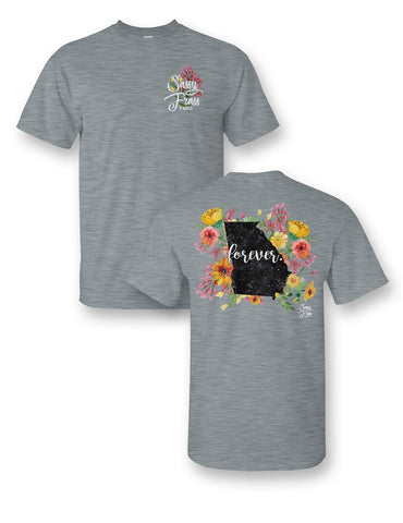 SALE Sassy Frass Georgia Forever Flowers State GA Bright Girlie T Shirt