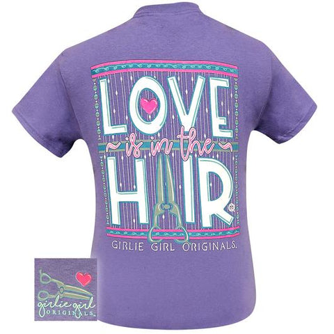 Girlie Girl Originals Preppy Love Is In The Hair T-Shirt