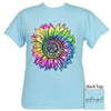 Girlie Girl Originals Preppy Tie Dye Sunflower T-Shirt