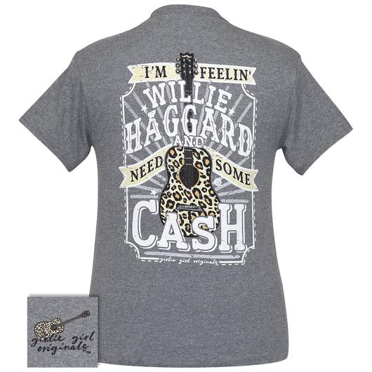 Girlie Girl Originals Preppy Haggard And Cash Leopard Guitar T-Shirt
