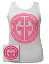 Girlie Girl Originals GGO Logo Tank Comfort Colors White Bright Tank Top - SimplyCuteTees