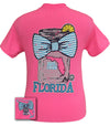 Girlie Girl Originals Florida Chevron Mason Jar Preppy State Bow Bright T Shirt - SimplyCuteTees