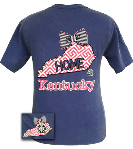 Girlie Girl Originals Kentucky Preppy State Bow Comfort Colors Bright T Shirt