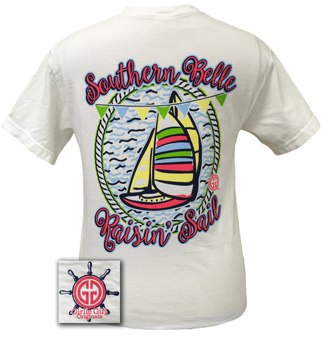 Girlie Girl Originals Southern Belle Raisin Sail Comfort Colors Bright T Shirt
