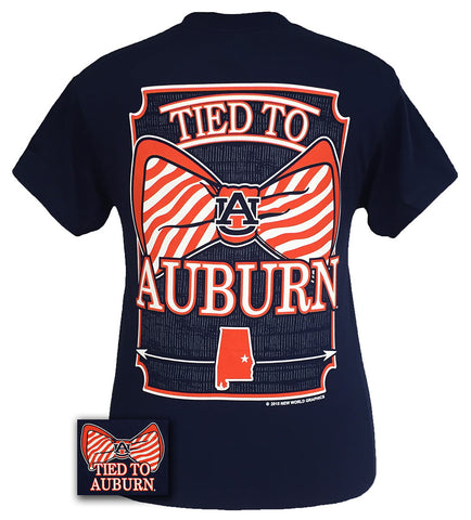 Auburn Tigers War Eagle Tied To Prep Bow Bright T-Shirt - SimplyCuteTees