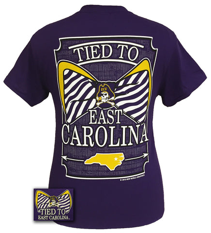 ECU East Carolina Pirates Preppy Tied To Bow Girlie T-Shirt
