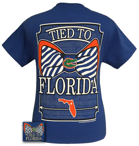 New Tied To Florida Gators Big Prep Bow Girlie Bright T Shirt