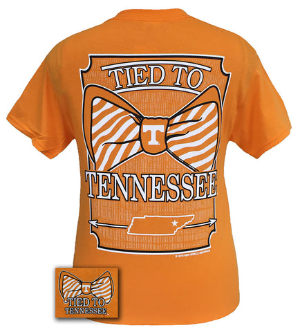 Tennessee Vols Volunteer Tied To Prep Bow Girlie Bright T Shirt - SimplyCuteTees
