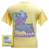 Girlie Girl Originals Louisiana Preppy State Bow Comfort Colors Bright T Shirt