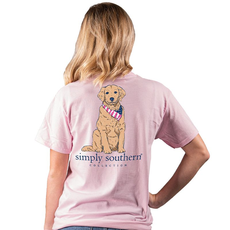Simply Southern Preppy USA Golden Dog T-Shirt