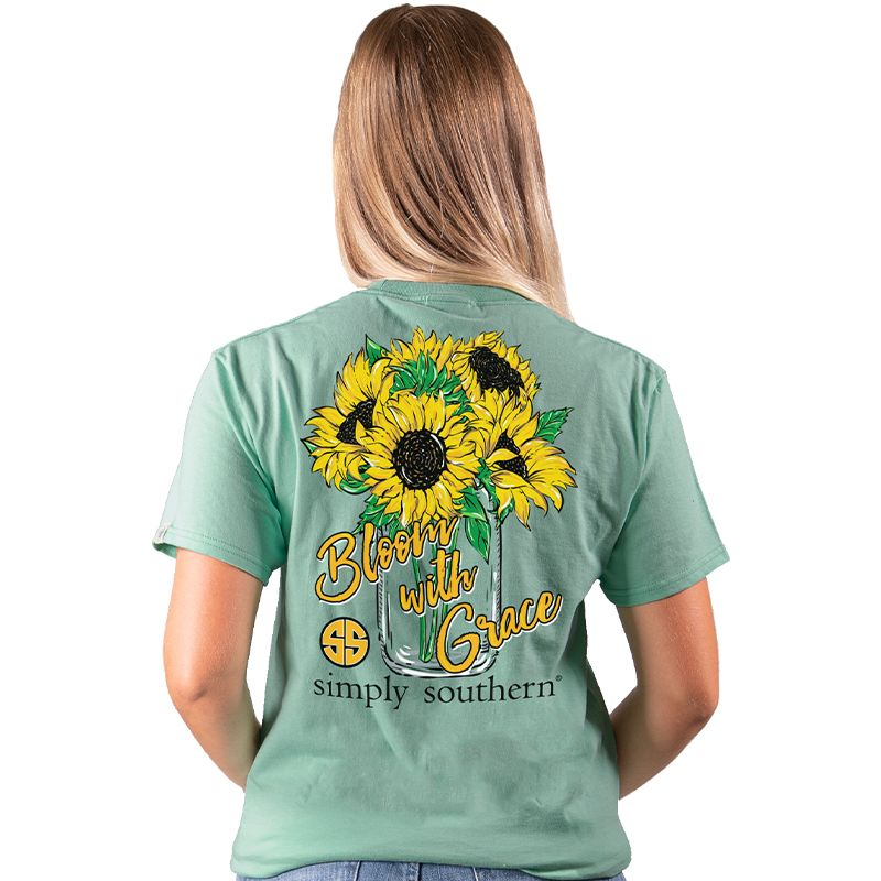Simply Southern Preppy Bloom With Grace Sunflower T-Shirt