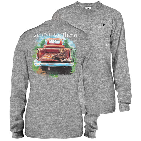 Simply Southern Lab Dog Truck Long Sleeve Unisex T-Shirt