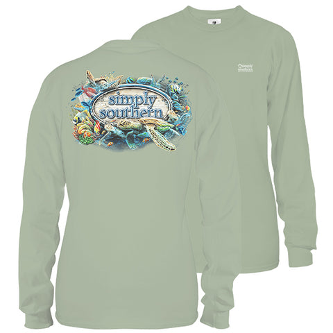 Simply Southern Reef Life Turtles Long Sleeve Unisex T-Shirt