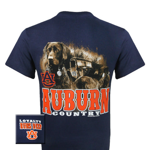 Auburn Tigers War Eagle Loyalty Runs Deep Dog Country Unisex Bright T Shirt - SimplyCuteTees