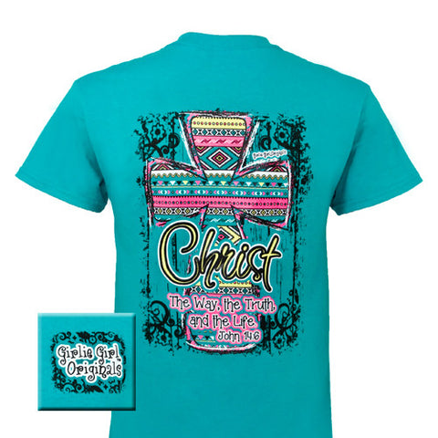 Girlie Girl Originals Christ Aztec Cross Christian Bright T Shirt - SimplyCuteTees