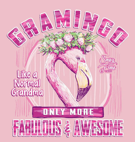 Sassy Frass Gramingo Grandma More Fabulous & Awesome Bright Girlie T Shirt