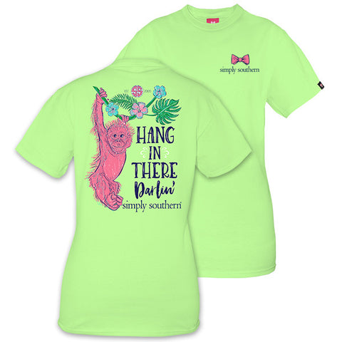 Simply Southern Preppy Hang In There Monkey T-Shirt