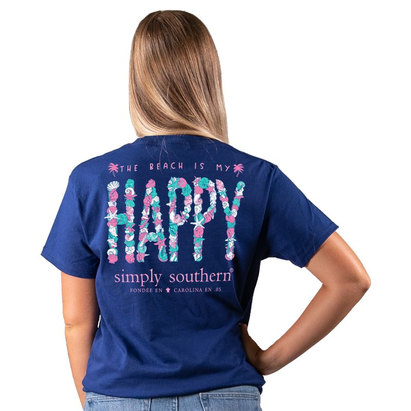 Simply Southern The Beach Is My Happy T-Shirt