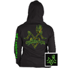 Country Life Outfitters Black & Green Deer Kiss Heart Love Hunt Bright Hoodie - SimplyCuteTees