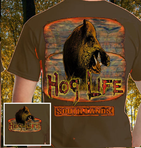 Country Life Outfitters Hog Life Southlands Olive Vintage Unisex Bright T Shirt - SimplyCuteTees