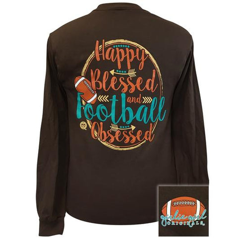 Girlie Girl Originals Football Obsessed Fall Long Sleeve T-Shirt