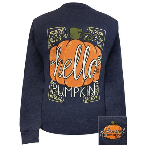 Girlie Girl Originals Hello Pumpkins Fall Long Sleeve T-Shirt