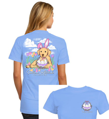 Southern Attitude Easter Basket Dog T-Shirt