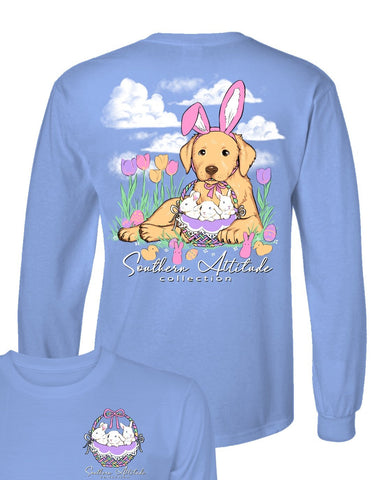 Southern Attitude Easter Basket Dog Long Sleeve T-Shirt