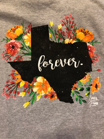 SALE Sassy Frass Forever Texas TX Star State Design Girlie Bright T Shirt