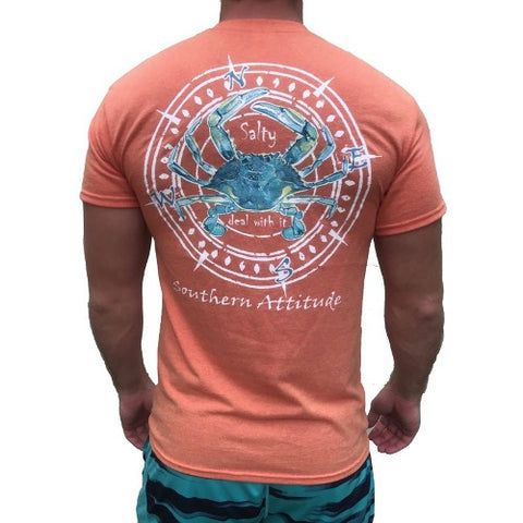 Southern Attitude Crab Compass Sunset Unisex T-Shirt