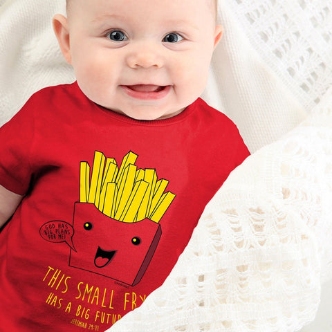 Kerusso Small Fry has a Big Future Christian Baby Toddler Youth Bright T Shirt
