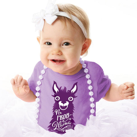 Kerusso No Prob Llama Christian Baby Toddler Youth Bright T Shirt