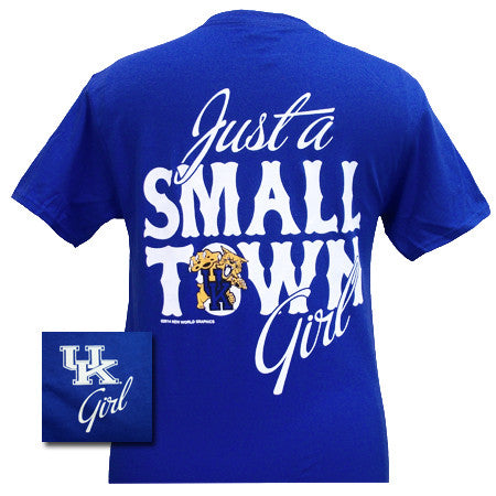 New uk kentucky wildcats small town girl girlie bright t for Simply for sports brand t shirts